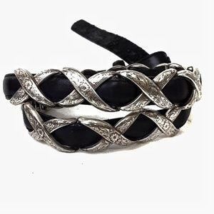 Vintage Tony Lama Leather and X link belt 30